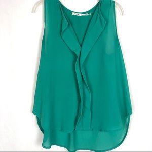 Poetry semi sheer sleeveless blouse